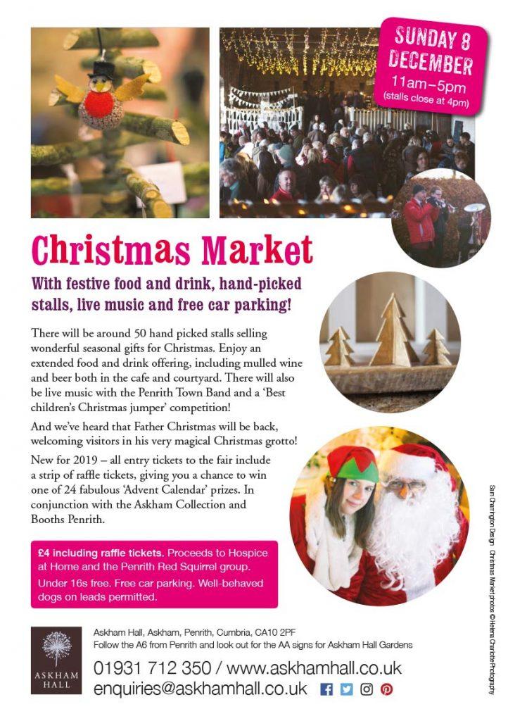 Charlotte Christmas Market.Askham Hall Christmas Market Sunday 8 December Askham Hall